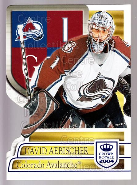 2003-04 Crown Royale Blue #22 David Aebischer<br/>1 In Stock - $3.00 each - <a href=https://centericecollectibles.foxycart.com/cart?name=2003-04%20Crown%20Royale%20Blue%20%2322%20David%20Aebischer...&quantity_max=1&price=$3.00&code=447165 class=foxycart> Buy it now! </a>
