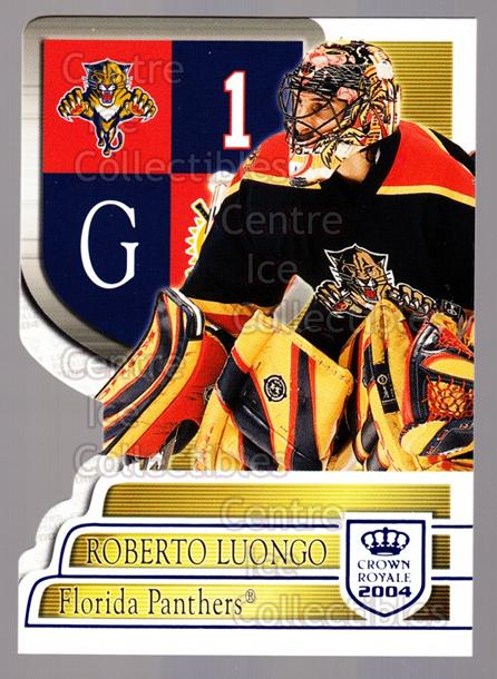 2003-04 Crown Royale Blue #45 Roberto Luongo<br/>4 In Stock - $3.00 each - <a href=https://centericecollectibles.foxycart.com/cart?name=2003-04%20Crown%20Royale%20Blue%20%2345%20Roberto%20Luongo...&quantity_max=4&price=$3.00&code=447180 class=foxycart> Buy it now! </a>