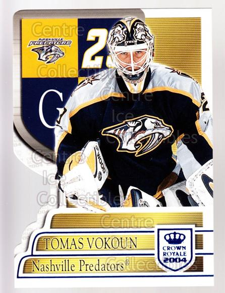 2003-04 Crown Royale Blue #58 Tomas Vokoun<br/>2 In Stock - $3.00 each - <a href=https://centericecollectibles.foxycart.com/cart?name=2003-04%20Crown%20Royale%20Blue%20%2358%20Tomas%20Vokoun...&quantity_max=2&price=$3.00&code=447193 class=foxycart> Buy it now! </a>
