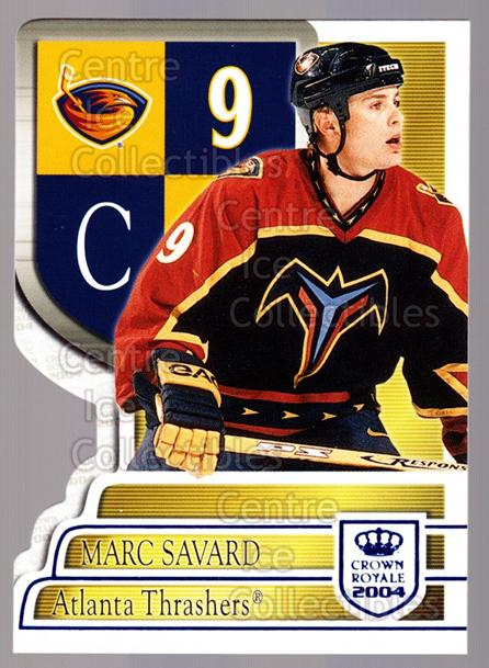 2003-04 Crown Royale Blue #6 Marc Savard<br/>3 In Stock - $3.00 each - <a href=https://centericecollectibles.foxycart.com/cart?name=2003-04%20Crown%20Royale%20Blue%20%236%20Marc%20Savard...&quantity_max=3&price=$3.00&code=447194 class=foxycart> Buy it now! </a>