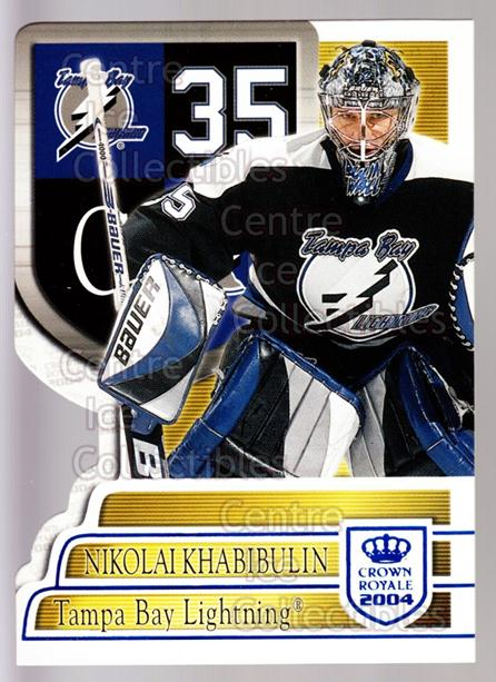 2003-04 Crown Royale Blue #88 Nikolai Khabibulin<br/>4 In Stock - $3.00 each - <a href=https://centericecollectibles.foxycart.com/cart?name=2003-04%20Crown%20Royale%20Blue%20%2388%20Nikolai%20Khabibu...&quantity_max=4&price=$3.00&code=447214 class=foxycart> Buy it now! </a>