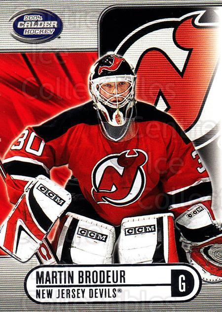 2003-04 Pacific Calder Silver #62 Martin Brodeur<br/>1 In Stock - $5.00 each - <a href=https://centericecollectibles.foxycart.com/cart?name=2003-04%20Pacific%20Calder%20Silver%20%2362%20Martin%20Brodeur...&price=$5.00&code=447367 class=foxycart> Buy it now! </a>