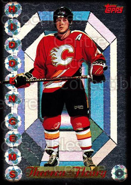 1995-96 Topps Hidden Gems #1 Theo Fleury<br/>1 In Stock - $2.00 each - <a href=https://centericecollectibles.foxycart.com/cart?name=1995-96%20Topps%20Hidden%20Gems%20%231%20Theo%20Fleury...&quantity_max=1&price=$2.00&code=44736 class=foxycart> Buy it now! </a>