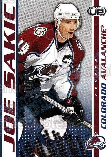 2003-04 Heads-Up Hobby LTD #26 Joe Sakic<br/>1 In Stock - $5.00 each - <a href=https://centericecollectibles.foxycart.com/cart?name=2003-04%20Heads-Up%20Hobby%20LTD%20%2326%20Joe%20Sakic...&quantity_max=1&price=$5.00&code=447689 class=foxycart> Buy it now! </a>