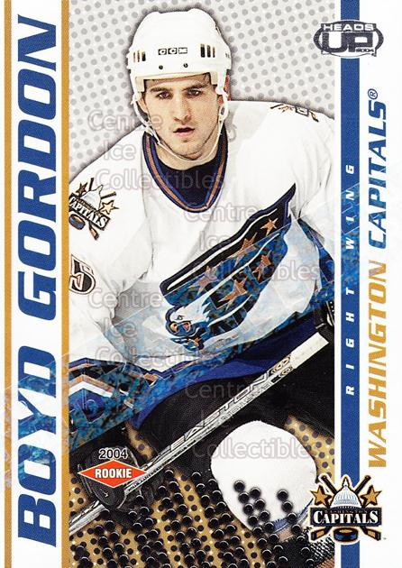2003-04 Heads-Up Retail LTD #135 Boyd Gordon<br/>3 In Stock - $3.00 each - <a href=https://centericecollectibles.foxycart.com/cart?name=2003-04%20Heads-Up%20Retail%20LTD%20%23135%20Boyd%20Gordon...&price=$3.00&code=447741 class=foxycart> Buy it now! </a>