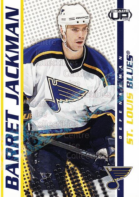 2003-04 Heads-Up Retail LTD #80 Barret Jackman<br/>5 In Stock - $2.00 each - <a href=https://centericecollectibles.foxycart.com/cart?name=2003-04%20Heads-Up%20Retail%20LTD%20%2380%20Barret%20Jackman...&quantity_max=5&price=$2.00&code=447789 class=foxycart> Buy it now! </a>