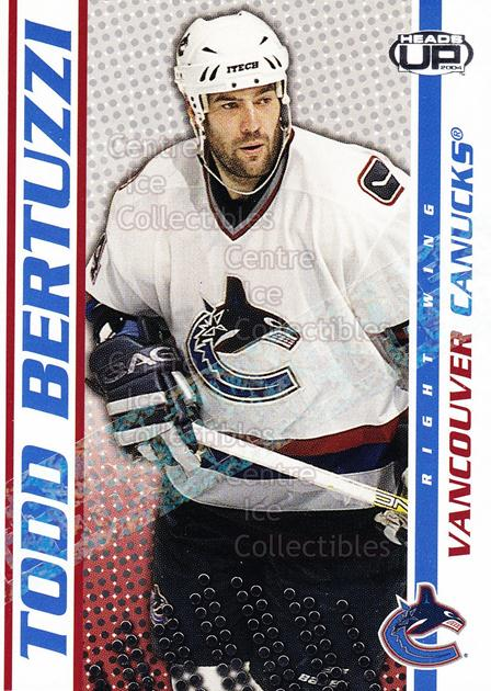 2003-04 Heads-Up Retail LTD #94 Todd Bertuzzi<br/>5 In Stock - $2.00 each - <a href=https://centericecollectibles.foxycart.com/cart?name=2003-04%20Heads-Up%20Retail%20LTD%20%2394%20Todd%20Bertuzzi...&quantity_max=5&price=$2.00&code=447798 class=foxycart> Buy it now! </a>
