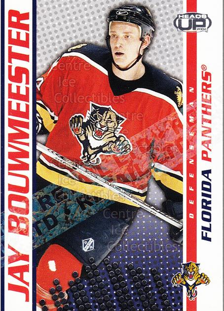 2003-04 Heads-Up Retail LTD #43 Jay Bouwmeester<br/>6 In Stock - $2.00 each - <a href=https://centericecollectibles.foxycart.com/cart?name=2003-04%20Heads-Up%20Retail%20LTD%20%2343%20Jay%20Bouwmeester...&quantity_max=6&price=$2.00&code=447813 class=foxycart> Buy it now! </a>