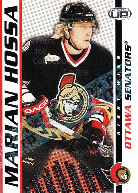 2003-04 Heads-Up Retail LTD #69 Marian Hossa<br/>5 In Stock - $2.00 each - <a href=https://centericecollectibles.foxycart.com/cart?name=2003-04%20Heads-Up%20Retail%20LTD%20%2369%20Marian%20Hossa...&quantity_max=5&price=$2.00&code=447821 class=foxycart> Buy it now! </a>
