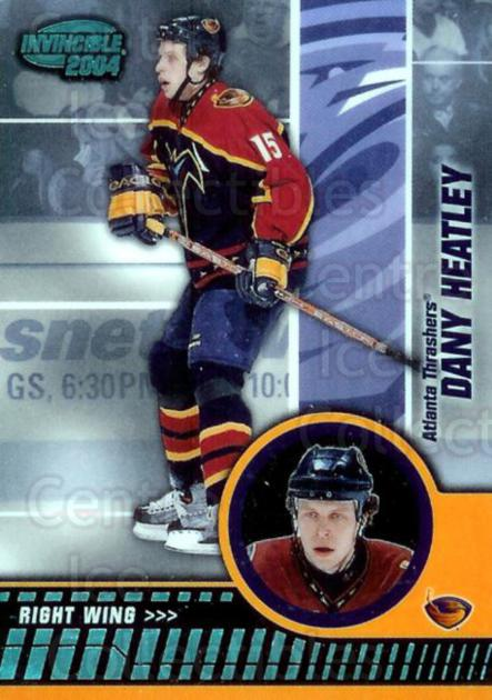 2003-04 Invincible Blue #4 Dany Heatley<br/>3 In Stock - $3.00 each - <a href=https://centericecollectibles.foxycart.com/cart?name=2003-04%20Invincible%20Blue%20%234%20Dany%20Heatley...&quantity_max=3&price=$3.00&code=447891 class=foxycart> Buy it now! </a>