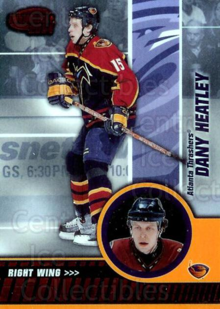 2003-04 Invincible Red #4 Dany Heatley<br/>1 In Stock - $3.00 each - <a href=https://centericecollectibles.foxycart.com/cart?name=2003-04%20Invincible%20Red%20%234%20Dany%20Heatley...&quantity_max=1&price=$3.00&code=448016 class=foxycart> Buy it now! </a>