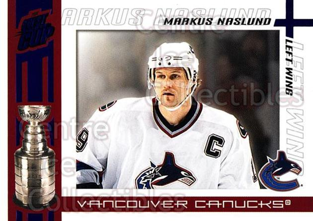 2003-04 Pacific Quest for the Cup Blue #100 Markus Naslund<br/>1 In Stock - $3.00 each - <a href=https://centericecollectibles.foxycart.com/cart?name=2003-04%20Pacific%20Quest%20for%20the%20Cup%20Blue%20%23100%20Markus%20Naslund...&quantity_max=1&price=$3.00&code=448091 class=foxycart> Buy it now! </a>