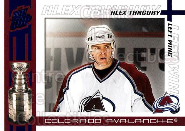 2003-04 Pacific Quest for the Cup Blue #28 Alex Tanguay<br/>1 In Stock - $3.00 each - <a href=https://centericecollectibles.foxycart.com/cart?name=2003-04%20Pacific%20Quest%20for%20the%20Cup%20Blue%20%2328%20Alex%20Tanguay...&quantity_max=1&price=$3.00&code=448108 class=foxycart> Buy it now! </a>