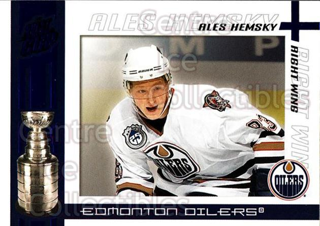 2003-04 Pacific Quest for the Cup Blue #42 Ales Hemsky<br/>1 In Stock - $3.00 each - <a href=https://centericecollectibles.foxycart.com/cart?name=2003-04%20Pacific%20Quest%20for%20the%20Cup%20Blue%20%2342%20Ales%20Hemsky...&quantity_max=1&price=$3.00&code=448121 class=foxycart> Buy it now! </a>