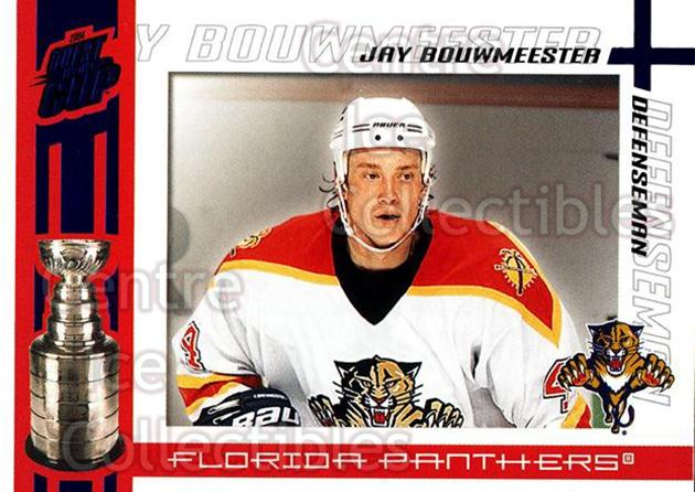 2003-04 Pacific Quest for the Cup Blue #45 Jay Bouwmeester<br/>1 In Stock - $3.00 each - <a href=https://centericecollectibles.foxycart.com/cart?name=2003-04%20Pacific%20Quest%20for%20the%20Cup%20Blue%20%2345%20Jay%20Bouwmeester...&quantity_max=1&price=$3.00&code=448124 class=foxycart> Buy it now! </a>