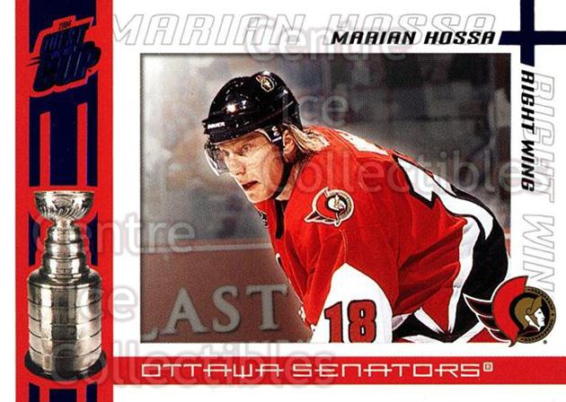2003-04 Pacific Quest for the Cup Blue #75 Marian Hossa<br/>1 In Stock - $3.00 each - <a href=https://centericecollectibles.foxycart.com/cart?name=2003-04%20Pacific%20Quest%20for%20the%20Cup%20Blue%20%2375%20Marian%20Hossa...&quantity_max=1&price=$3.00&code=448148 class=foxycart> Buy it now! </a>