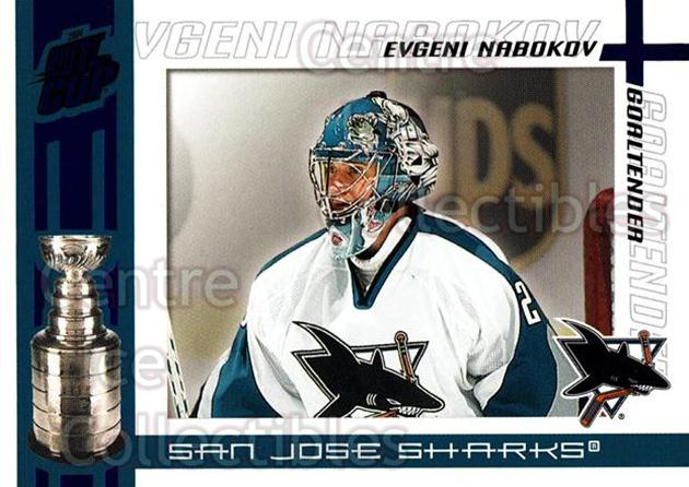 2003-04 Pacific Quest for the Cup Blue #90 Evgeni Nabokov<br/>1 In Stock - $3.00 each - <a href=https://centericecollectibles.foxycart.com/cart?name=2003-04%20Pacific%20Quest%20for%20the%20Cup%20Blue%20%2390%20Evgeni%20Nabokov...&quantity_max=1&price=$3.00&code=448161 class=foxycart> Buy it now! </a>
