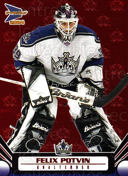 2003-04 Prism Red #50 Felix Potvin<br/>3 In Stock - $3.00 each - <a href=https://centericecollectibles.foxycart.com/cart?name=2003-04%20Prism%20Red%20%2350%20Felix%20Potvin...&quantity_max=3&price=$3.00&code=448339 class=foxycart> Buy it now! </a>