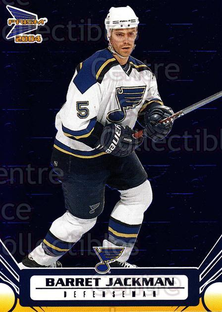 2003-04 Prism Blue #83 Barret Jackman<br/>1 In Stock - $3.00 each - <a href=https://centericecollectibles.foxycart.com/cart?name=2003-04%20Prism%20Blue%20%2383%20Barret%20Jackman...&quantity_max=1&price=$3.00&code=448595 class=foxycart> Buy it now! </a>