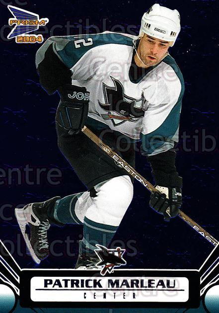 2003-04 Prism Blue #87 Patrick Marleau<br/>3 In Stock - $3.00 each - <a href=https://centericecollectibles.foxycart.com/cart?name=2003-04%20Prism%20Blue%20%2387%20Patrick%20Marleau...&quantity_max=3&price=$3.00&code=448667 class=foxycart> Buy it now! </a>