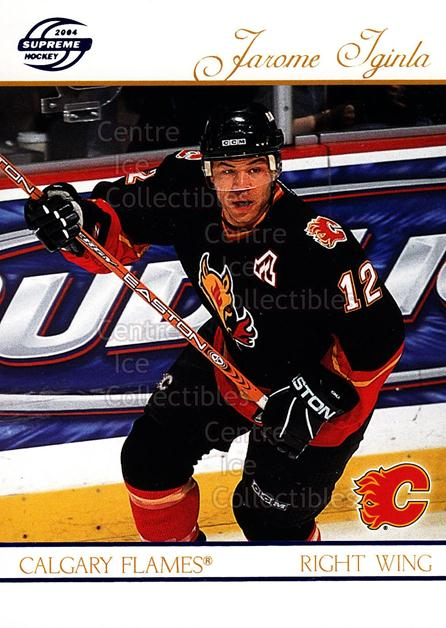 2003-04 Supreme Blue #13 Jarome Iginla<br/>1 In Stock - $3.00 each - <a href=https://centericecollectibles.foxycart.com/cart?name=2003-04%20Supreme%20Blue%20%2313%20Jarome%20Iginla...&quantity_max=1&price=$3.00&code=448822 class=foxycart> Buy it now! </a>