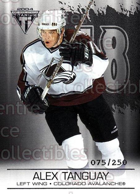 2003-04 Titanium Retail Jersey Number Parallels #29 Alex Tanguay<br/>7 In Stock - $3.00 each - <a href=https://centericecollectibles.foxycart.com/cart?name=2003-04%20Titanium%20Retail%20Jersey%20Number%20Parallels%20%2329%20Alex%20Tanguay...&quantity_max=7&price=$3.00&code=449158 class=foxycart> Buy it now! </a>