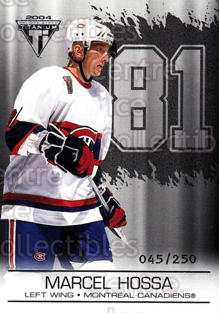 2003-04 Titanium Retail Jersey Number Parallels #54 Marcel Hossa<br/>8 In Stock - $3.00 each - <a href=https://centericecollectibles.foxycart.com/cart?name=2003-04%20Titanium%20Retail%20Jersey%20Number%20Parallels%20%2354%20Marcel%20Hossa...&quantity_max=8&price=$3.00&code=449183 class=foxycart> Buy it now! </a>