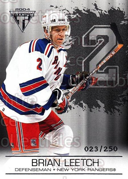 2003-04 Titanium Retail Jersey Number Parallels #68 Brian Leetch<br/>7 In Stock - $3.00 each - <a href=https://centericecollectibles.foxycart.com/cart?name=2003-04%20Titanium%20Retail%20Jersey%20Number%20Parallels%20%2368%20Brian%20Leetch...&quantity_max=7&price=$3.00&code=449197 class=foxycart> Buy it now! </a>