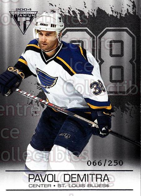 2003-04 Titanium Retail Jersey Number Parallels #83 Pavol Demitra<br/>6 In Stock - $3.00 each - <a href=https://centericecollectibles.foxycart.com/cart?name=2003-04%20Titanium%20Retail%20Jersey%20Number%20Parallels%20%2383%20Pavol%20Demitra...&quantity_max=6&price=$3.00&code=449212 class=foxycart> Buy it now! </a>