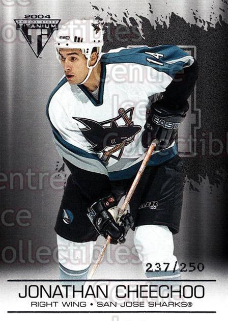 2003-04 Titanium Retail Jersey Number Parallels #86 Jonathan Cheechoo<br/>8 In Stock - $3.00 each - <a href=https://centericecollectibles.foxycart.com/cart?name=2003-04%20Titanium%20Retail%20Jersey%20Number%20Parallels%20%2386%20Jonathan%20Cheech...&quantity_max=8&price=$3.00&code=449215 class=foxycart> Buy it now! </a>