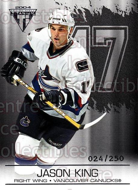 2003-04 Titanium Retail Jersey Number Parallels #95 Jason King<br/>5 In Stock - $3.00 each - <a href=https://centericecollectibles.foxycart.com/cart?name=2003-04%20Titanium%20Retail%20Jersey%20Number%20Parallels%20%2395%20Jason%20King...&quantity_max=5&price=$3.00&code=449224 class=foxycart> Buy it now! </a>