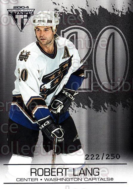 2003-04 Titanium Retail Jersey Number Parallels #100 Robert Lang<br/>6 In Stock - $3.00 each - <a href=https://centericecollectibles.foxycart.com/cart?name=2003-04%20Titanium%20Retail%20Jersey%20Number%20Parallels%20%23100%20Robert%20Lang...&quantity_max=6&price=$3.00&code=449229 class=foxycart> Buy it now! </a>
