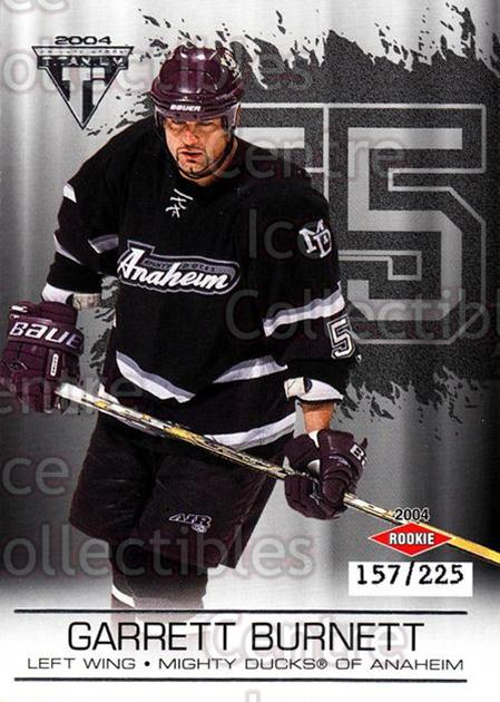 2003-04 Titanium Retail Jersey Number Parallels #101 Garrett Burnett<br/>7 In Stock - $5.00 each - <a href=https://centericecollectibles.foxycart.com/cart?name=2003-04%20Titanium%20Retail%20Jersey%20Number%20Parallels%20%23101%20Garrett%20Burnett...&quantity_max=7&price=$5.00&code=449230 class=foxycart> Buy it now! </a>
