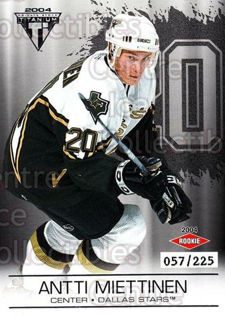 2003-04 Titanium Retail Jersey Number Parallels #116 Antti Miettinen<br/>8 In Stock - $5.00 each - <a href=https://centericecollectibles.foxycart.com/cart?name=2003-04%20Titanium%20Retail%20Jersey%20Number%20Parallels%20%23116%20Antti%20Miettinen...&quantity_max=8&price=$5.00&code=449245 class=foxycart> Buy it now! </a>