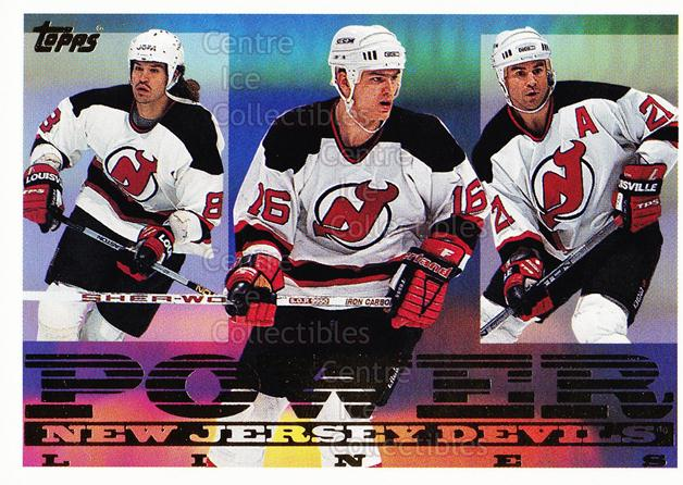 1995-96 Topps Power Lines #10 Mike Peluso, Bobby Holik, Randy McKay<br/>5 In Stock - $2.00 each - <a href=https://centericecollectibles.foxycart.com/cart?name=1995-96%20Topps%20Power%20Lines%20%2310%20Mike%20Peluso,%20Bo...&quantity_max=5&price=$2.00&code=44928 class=foxycart> Buy it now! </a>