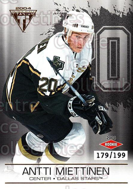 2003-04 Titanium Hobby Jersey Number Parallels #116 Antti Miettinen<br/>6 In Stock - $5.00 each - <a href=https://centericecollectibles.foxycart.com/cart?name=2003-04%20Titanium%20Hobby%20Jersey%20Number%20Parallels%20%23116%20Antti%20Miettinen...&quantity_max=6&price=$5.00&code=449435 class=foxycart> Buy it now! </a>