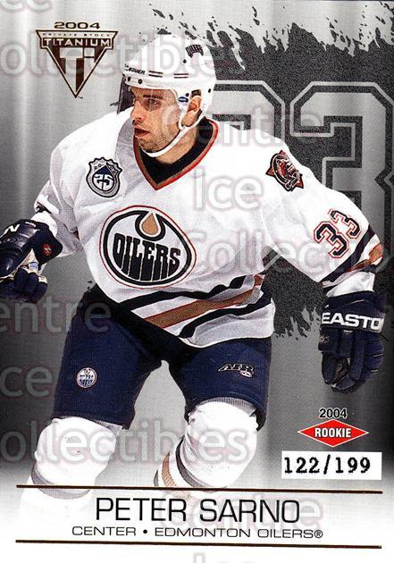 2003-04 Titanium Hobby Jersey Number Parallels #120 Peter Sarno<br/>6 In Stock - $5.00 each - <a href=https://centericecollectibles.foxycart.com/cart?name=2003-04%20Titanium%20Hobby%20Jersey%20Number%20Parallels%20%23120%20Peter%20Sarno...&quantity_max=6&price=$5.00&code=449439 class=foxycart> Buy it now! </a>
