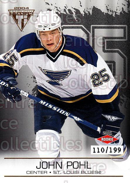 2003-04 Titanium Hobby Jersey Number Parallels #134 John Pohl<br/>6 In Stock - $5.00 each - <a href=https://centericecollectibles.foxycart.com/cart?name=2003-04%20Titanium%20Hobby%20Jersey%20Number%20Parallels%20%23134%20John%20Pohl...&quantity_max=6&price=$5.00&code=449453 class=foxycart> Buy it now! </a>
