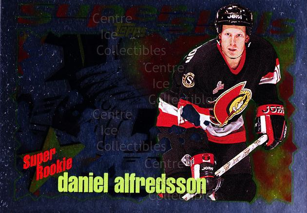 1995-96 Topps Super Skills Super Rookies #12 Daniel Alfredsson<br/>7 In Stock - $2.00 each - <a href=https://centericecollectibles.foxycart.com/cart?name=1995-96%20Topps%20Super%20Skills%20Super%20Rookies%20%2312%20Daniel%20Alfredss...&quantity_max=7&price=$2.00&code=44989 class=foxycart> Buy it now! </a>