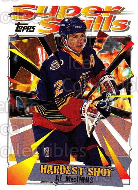 1995-96 Topps Super Skills #49 Al MacInnis<br/>10 In Stock - $1.00 each - <a href=https://centericecollectibles.foxycart.com/cart?name=1995-96%20Topps%20Super%20Skills%20%2349%20Al%20MacInnis...&quantity_max=10&price=$1.00&code=45033 class=foxycart> Buy it now! </a>