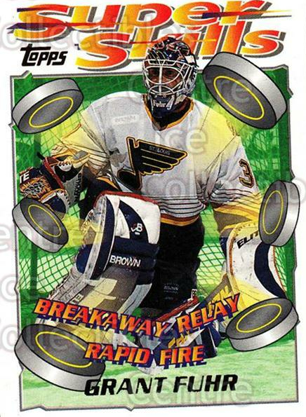 1995-96 Topps Super Skills #88 Grant Fuhr<br/>10 In Stock - $1.00 each - <a href=https://centericecollectibles.foxycart.com/cart?name=1995-96%20Topps%20Super%20Skills%20%2388%20Grant%20Fuhr...&quantity_max=10&price=$1.00&code=45070 class=foxycart> Buy it now! </a>
