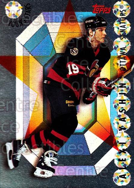 1995-96 Topps Young Stars #5 Alexei Yashin<br/>3 In Stock - $2.00 each - <a href=https://centericecollectibles.foxycart.com/cart?name=1995-96%20Topps%20Young%20Stars%20%235%20Alexei%20Yashin...&quantity_max=3&price=$2.00&code=45078 class=foxycart> Buy it now! </a>