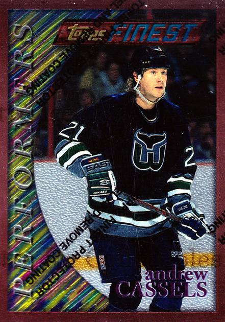 1995-96 Finest #74 Andrew Cassels<br/>6 In Stock - $1.00 each - <a href=https://centericecollectibles.foxycart.com/cart?name=1995-96%20Finest%20%2374%20Andrew%20Cassels...&quantity_max=6&price=$1.00&code=45083 class=foxycart> Buy it now! </a>