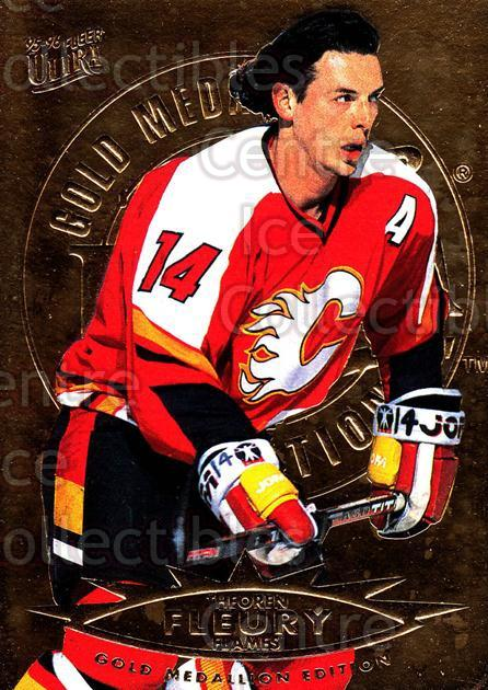 1995-96 Ultra Gold #24 Theo Fleury<br/>1 In Stock - $2.00 each - <a href=https://centericecollectibles.foxycart.com/cart?name=1995-96%20Ultra%20Gold%20%2324%20Theo%20Fleury...&quantity_max=1&price=$2.00&code=45208 class=foxycart> Buy it now! </a>
