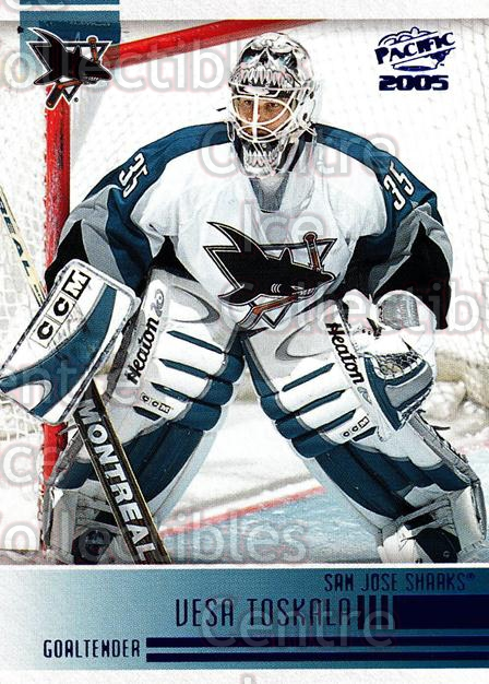 2004-05 Pacific Blue #234 Vesa Toskala<br/>3 In Stock - $3.00 each - <a href=https://centericecollectibles.foxycart.com/cart?name=2004-05%20Pacific%20Blue%20%23234%20Vesa%20Toskala...&quantity_max=3&price=$3.00&code=452184 class=foxycart> Buy it now! </a>