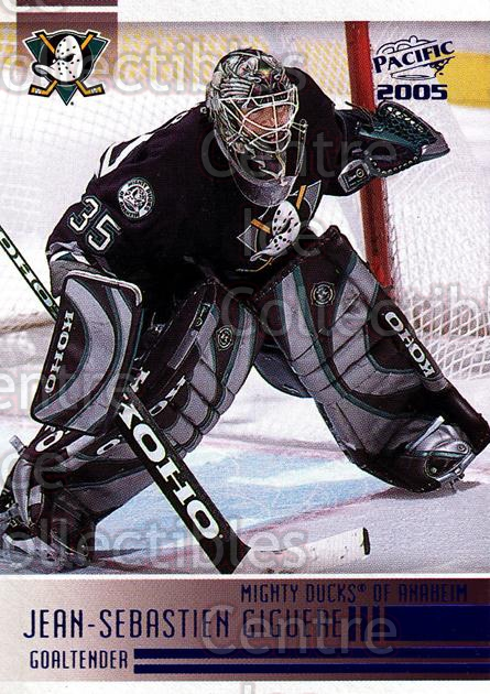 2004-05 Pacific Blue #4 Jean-Sebastien Giguere<br/>2 In Stock - $3.00 each - <a href=https://centericecollectibles.foxycart.com/cart?name=2004-05%20Pacific%20Blue%20%234%20Jean-Sebastien%20...&quantity_max=2&price=$3.00&code=452256 class=foxycart> Buy it now! </a>