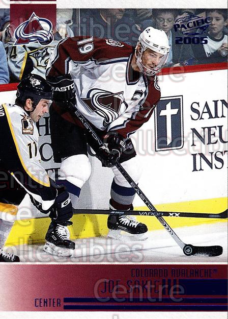 2004-05 Pacific Blue #69 Joe Sakic<br/>2 In Stock - $5.00 each - <a href=https://centericecollectibles.foxycart.com/cart?name=2004-05%20Pacific%20Blue%20%2369%20Joe%20Sakic...&quantity_max=2&price=$5.00&code=452411 class=foxycart> Buy it now! </a>