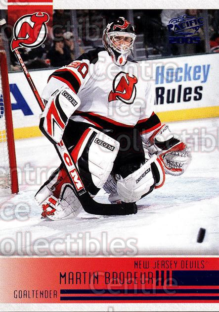 2004-05 Pacific Blue #154 Martin Brodeur<br/>1 In Stock - $5.00 each - <a href=https://centericecollectibles.foxycart.com/cart?name=2004-05%20Pacific%20Blue%20%23154%20Martin%20Brodeur...&quantity_max=1&price=$5.00&code=452417 class=foxycart> Buy it now! </a>
