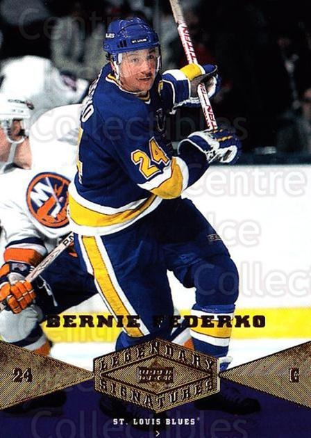 2004-05 UD Legendary Signatures #3 Bernie Federko<br/>1 In Stock - $2.00 each - <a href=https://centericecollectibles.foxycart.com/cart?name=2004-05%20UD%20Legendary%20Signatures%20%233%20Bernie%20Federko...&quantity_max=1&price=$2.00&code=452496 class=foxycart> Buy it now! </a>