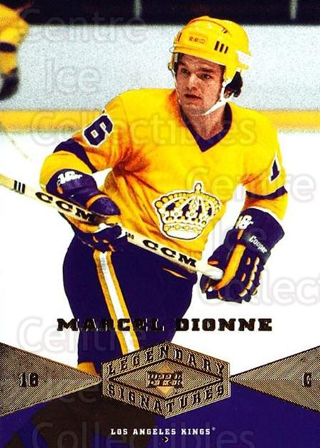 2004-05 UD Legendary Signatures #55 Marcel Dionne<br/>2 In Stock - $2.00 each - <a href=https://centericecollectibles.foxycart.com/cart?name=2004-05%20UD%20Legendary%20Signatures%20%2355%20Marcel%20Dionne...&quantity_max=2&price=$2.00&code=452548 class=foxycart> Buy it now! </a>